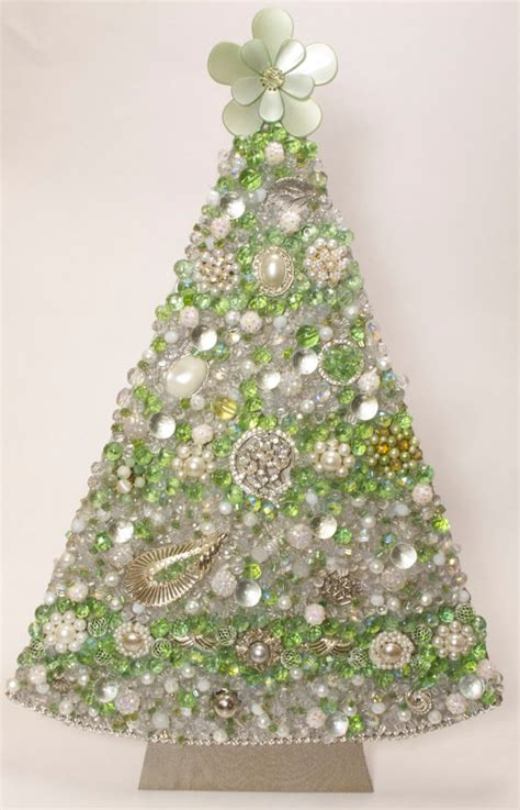 17 jeweled christmas tree handmade with beads and