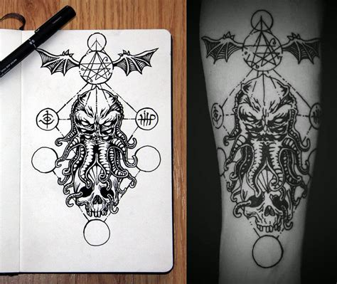 cthulhu design by burton25 inkspiration