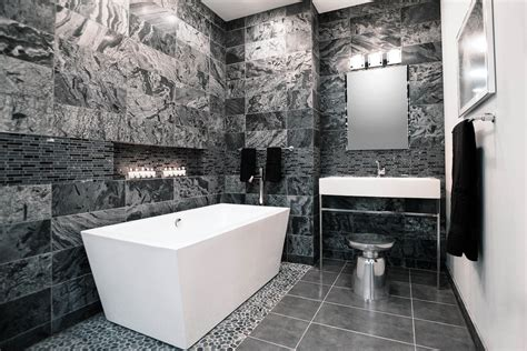 black and gray bathroom bathroom bathroom white red bathroom floor tub modern