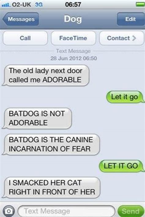 texts from the 35 funniest text messages dogs would send if they could text