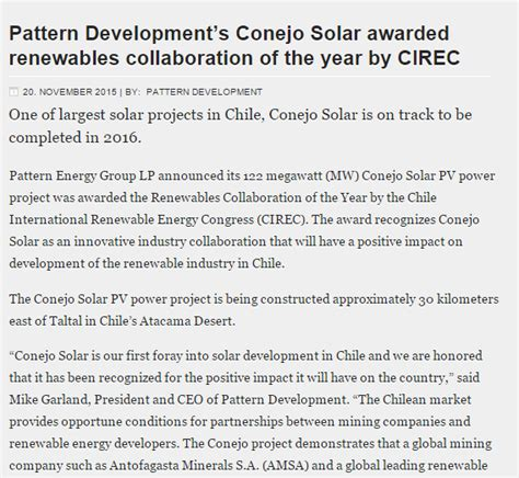 pattern energy press release renewable energy event press releases cirec week