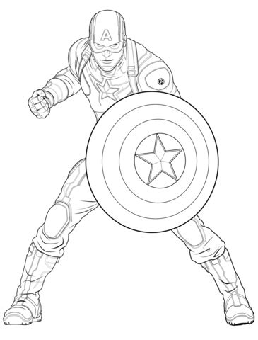 coloring pages for captain america avengers captain america coloring page free printable