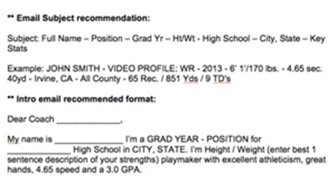 College Recruiting Athletic Scholarships Sportsforce College Recruiting Email Templates