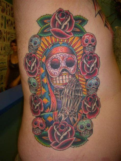 Day Of The Dead Our Lady Of Guadalupe Tattoo By Jon Reed Bob Tattoos Our Guadalupe