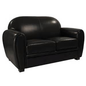 canap 233 club cuir noir 2 places achat et vente