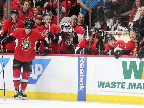hockey player dies on bench photos senators vs canadiens game 6 on april 26