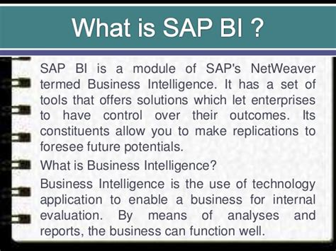 tutorial sap business intelligence what is sap bi overview and online training
