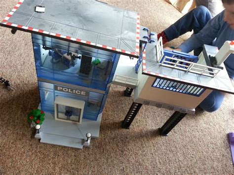 Playmobil police station me the man amp the kids