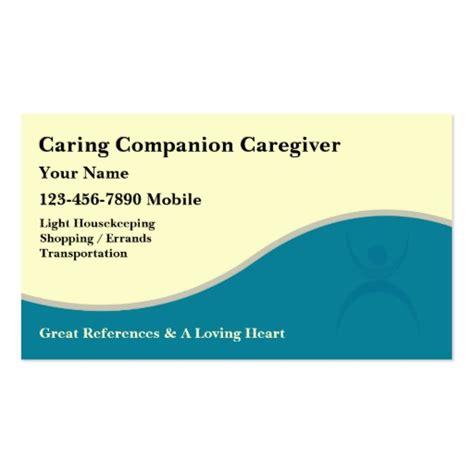 Caregiver Business Cards Templates by Caregiver Business Cards Zazzle