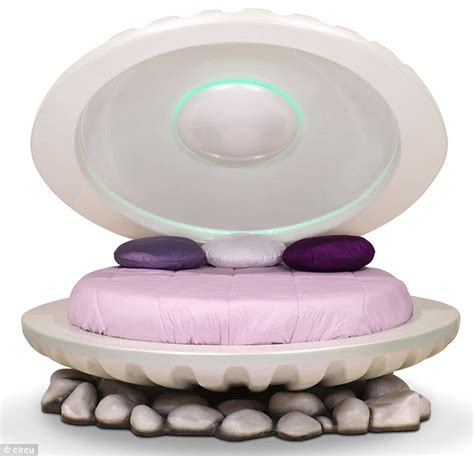 clam shell bed little mermaid inspired clamshell bed costs 16 000