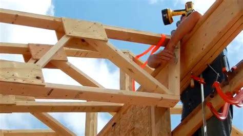 man roof truss raising youtube
