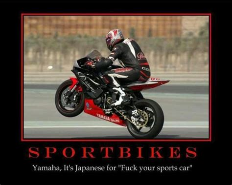 Funny Motorcycle Memes - yamaha japanese for car sportbike hanging out in the