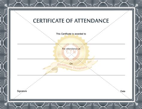 attendance award template 10 best images of certificate of participation template