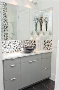 Modern minimal black white and grey tile bath contemporary bathroom