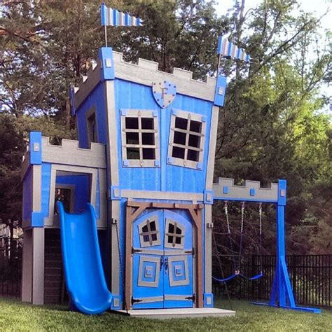 backyard castle playhouse regal backyard castles castle playhouse