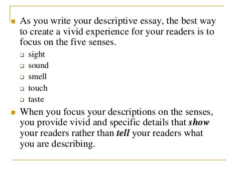 how to write a descriptive essay