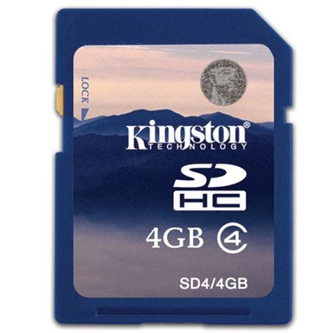 Memory Card Kingston Buy Kingston 4gb Sdhc Sd Memory Card 4mb S