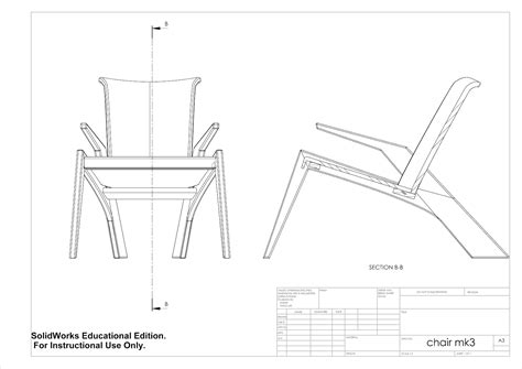 technical drawing section zac douglas furniture design cad technical drawings