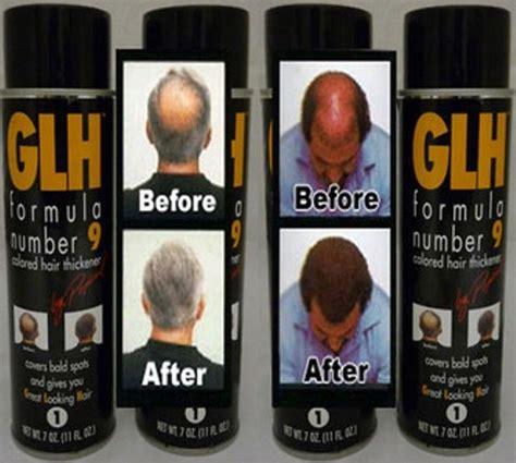 popeil hair spray 6 x glh hair thickening spray baldness thinning hair loss