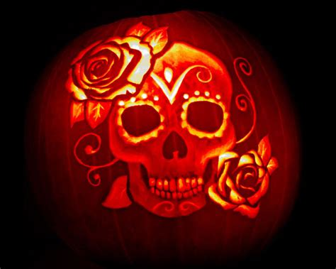 dia de los muertos pumpkin template the most ambitious and impressive spooky pumpkin designs