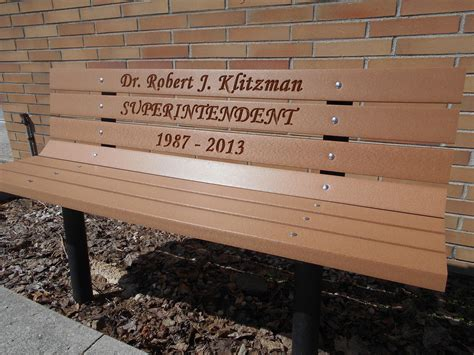 memorial park bench laser engraved poly plate 50 00 wood kits park benches handcars buckboard benches