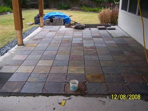 Backyard Tile Ideas Outdoor Patio Flooring Options Trim Paint And New Flooring Patio Tile Install Slate Patio