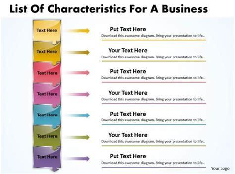 business powerpoint templates list  characteristics