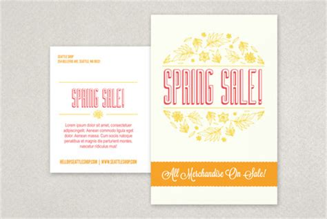 illustrative spring sale postcard template inkd
