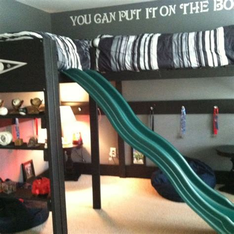 boys twin loft bed with slide boys loft bed loft bunk slide drawer pulls on support