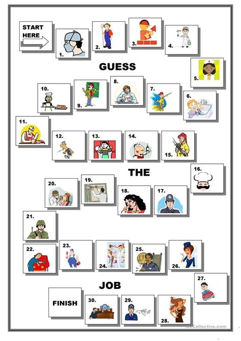 free printable english worksheets occupations occupations games esl