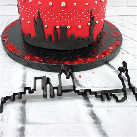 Patchwork Fondant Cutters - new york skyline patchwork cutter