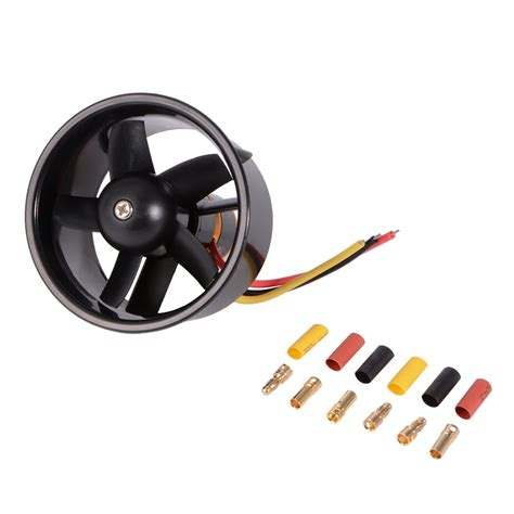 rc ducted fan engine 64mm ducted fan 5 blade with electric motor qf2611 4500kv