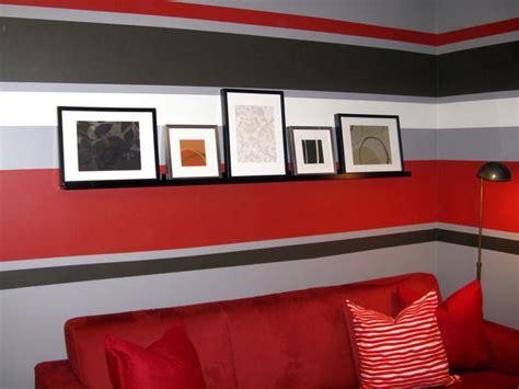 wandgestaltung rot 30 fotos e ideas para decorar y pintar las paredes a rayas