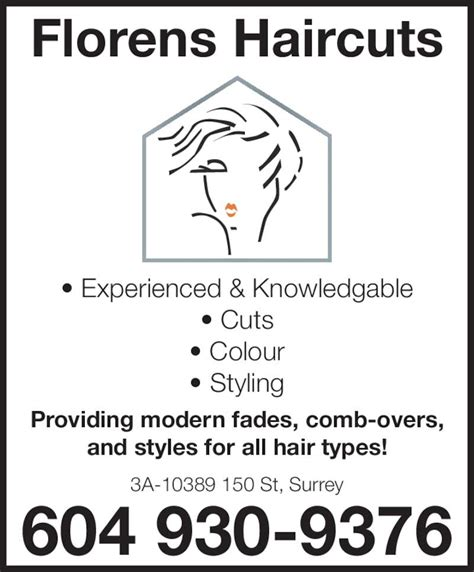 Florens Haircuts Surrey Hours | florens haircuts opening hours 3a 10389 150 st surrey bc