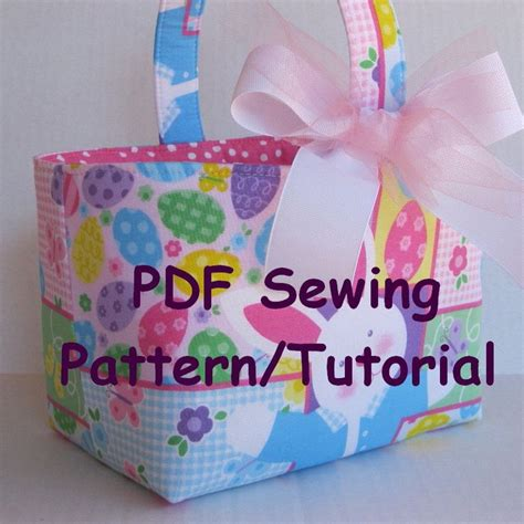 pattern for fabric easter basket fabric easter basket pdf sewing pattern tutorial three