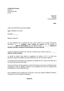 Résiliation de contrat lettre de cession de bail   Moto bip