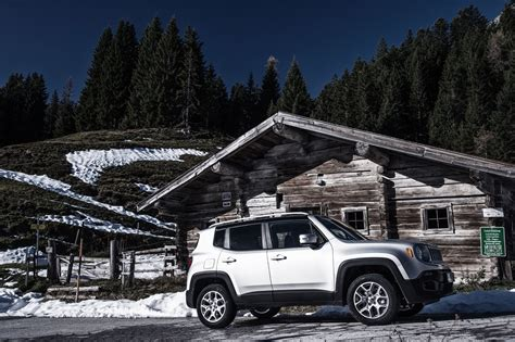 jeep passenger automobile magazine tests the jeep renegade in the alps