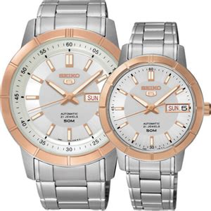 Seiko 5 Snkn56k1 Automatic Silver Gold Bezel Stainless Steel Brac seiko 5 automatic snkn56k1 swing indonesia