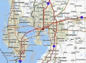 map of florida ta area map of st petersburg vacations travel map
