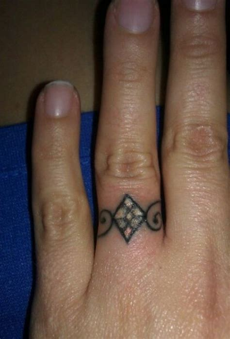 wedding finger tattoos designs 20 ring tattoos designs ideas magment