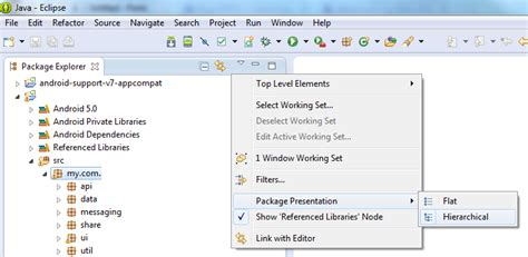 eclipse theme package explorer how to configure eclipse s package explorer to disp
