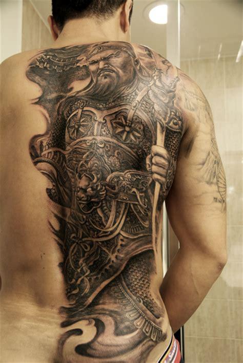 oriental god tattoo hailin fu certified artist