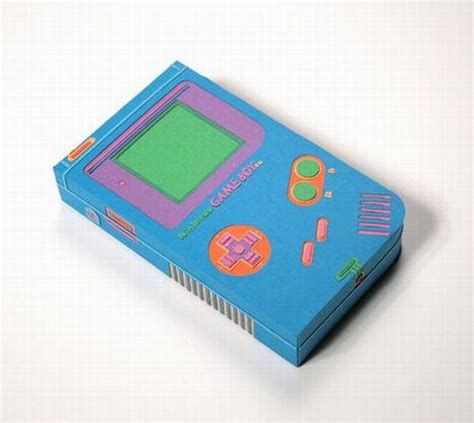 Gameboy Papercraft - nintendo gameboy papercraft 15 pics