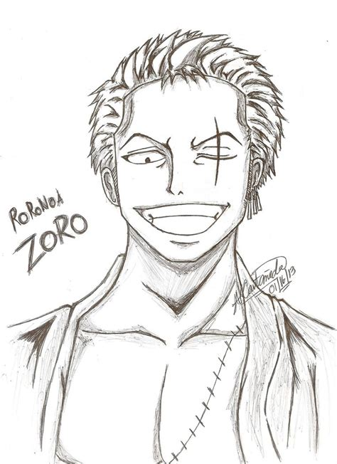 Drawing Zoro by Roronoa Zoro One After Time Skip By Arisakei On
