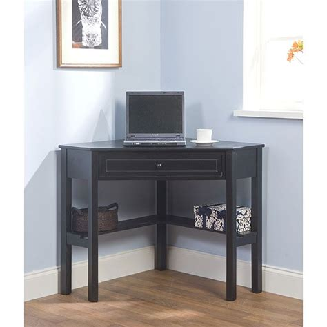 Computer Desk Overstock by Simple Living Black Wood Corner Computer Desk With Drawer