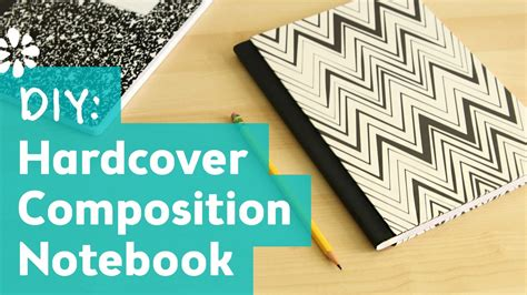 How To Make A Paper Notebook - how to make a hardcover composition notebook