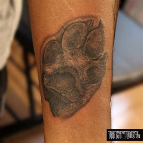 dog paws tattoos realistic paw tattooimages biz