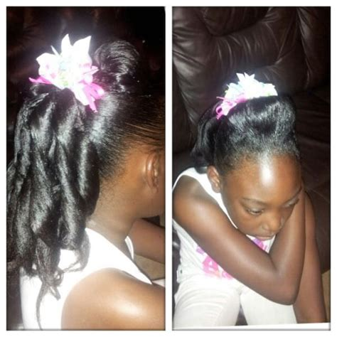 hump weeve hairstyle a few shirley temple curls and small hump black hair