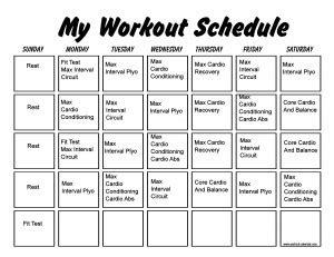 insanity workout schedule   print a workout calendar