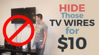 How To Hide Wires From Wall Mounted Tv How To Hide Your Tv Wires For 10 Youtube